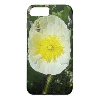 Coque iPhone 8 Plus/7 Plus Pavot jaune et abeille verte durs je téléphone le