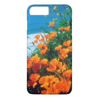 Coque iPhone 8 Plus/7 Plus Pavots le long de la Côte Pacifique près de grand