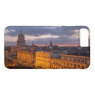 Coque iPhone 8 Plus/7 Plus Paysage urbain au coucher du soleil, La Havane,