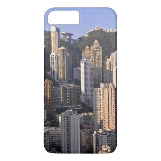 Coque iPhone 8 Plus/7 Plus Paysage urbain de Hong Kong, Chine