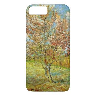 Coque iPhone 8 Plus/7 Plus Pêcher rose de Van Gogh dans la fleur, beaux-arts