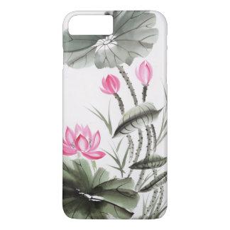 Coque iPhone 8 Plus/7 Plus Peinture d'aquarelle de la fleur de Lotus 2