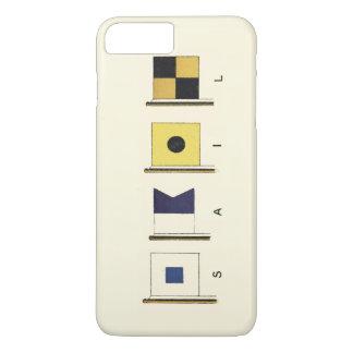 Coque iPhone 8 Plus/7 Plus Peinture de quatre drapeaux avec la voile écrite