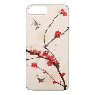 Coque iPhone 8 Plus/7 Plus Peinture orientale de style, fleur au printemps 3