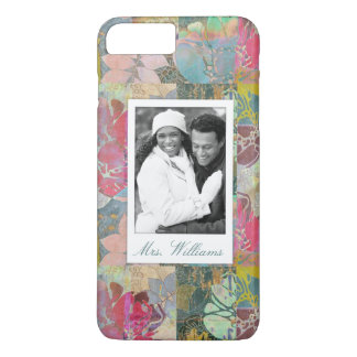 Coque iPhone 8 Plus/7 Plus Photo faite sur commande et motif grunge floral