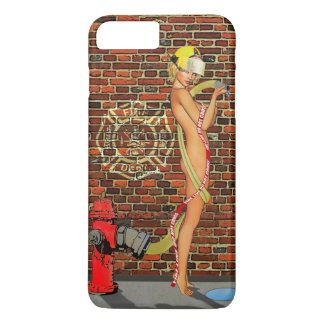 Coque iPhone 8 Plus/7 Plus Pin-up sexy de sapeur-pompier
