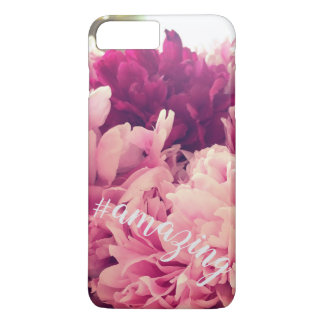 Coque iPhone 8 Plus/7 Plus Pivoine extraordinaire Hashtag Phonecase