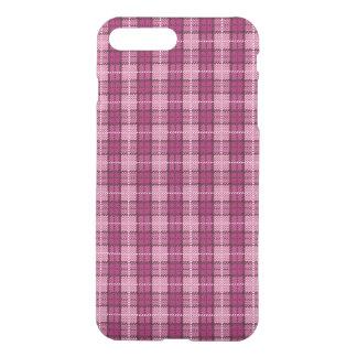 Coque iPhone 8 Plus/7 Plus Pixel Plaid_Magenta-Black
