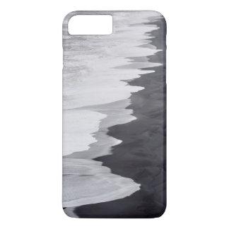 Coque iPhone 8 Plus/7 Plus Plage noire et blanche pittoresque