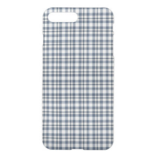 Coque iPhone 8 Plus/7 Plus Plaid blanc bleu 1