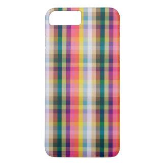 Coque iPhone 8 Plus/7 Plus Plaid écossais abstrait