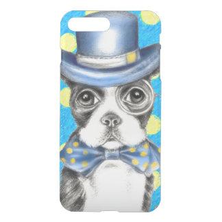 Coque iPhone 8 Plus/7 Plus Point de polka de Boston Terrier