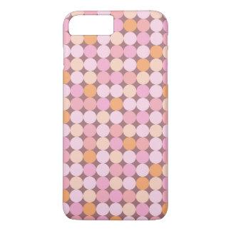 Coque iPhone 8 Plus/7 Plus Pois rose et orange