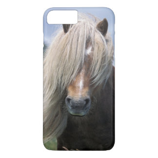 Coque iPhone 8 Plus/7 Plus Poney du R-U, Ecosse, Îles Shetland, Shetland