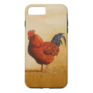 Coque iPhone 8 Plus/7 Plus Poulet de coq de rouge d'île de Rhode