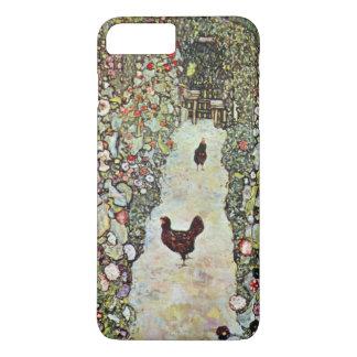 Coque iPhone 8 Plus/7 Plus Poulets du chemin W de jardin, Gustav Klimt, art