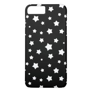 Coque iPhone 8 Plus/7 Plus Profil sous convention astérisque noir et blanc