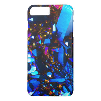 Coque iPhone 8 Plus/7 Plus Quartz titanique de bleu de cobalt