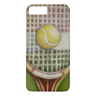Coque iPhone 8 Plus/7 Plus Raquette de tennis avec la boule s'étendant sur la