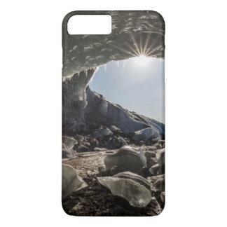 Coque iPhone 8 Plus/7 Plus Rayon de soleil à l'entrée de caverne de glace