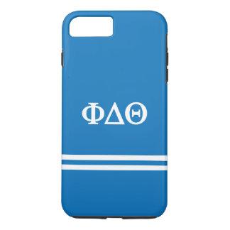 Coque iPhone 8 Plus/7 Plus Rayure de sport du thêta | de delta de phi