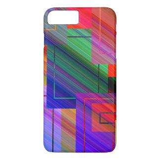 Coque iPhone 8 Plus/7 Plus Rectangles de rayon léger