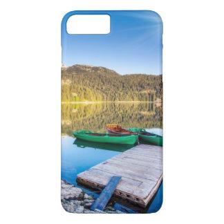 Coque iPhone 8 Plus/7 Plus Réflexion dans l'eau des lacs et des bateaux de