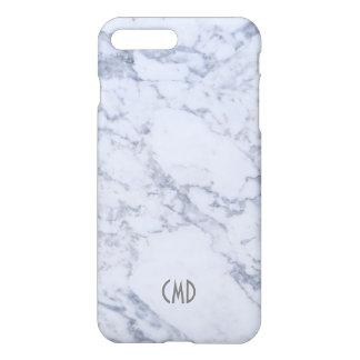 Coque iPhone 8 Plus/7 Plus Regard en pierre de marbre blanc