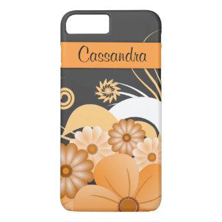 Coque iPhone 8 Plus/7 Plus Remous floraux de ketmie ene ivoire Girly moderne