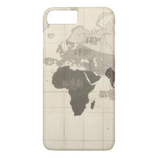 Coque iPhone 8 Plus/7 Plus Répartition géographique de végétation