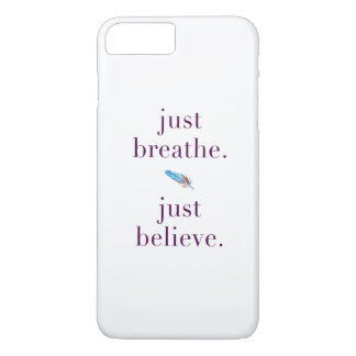 Coque iPhone 8 Plus/7 Plus Respirez juste le cas tribal de téléphone de yoga