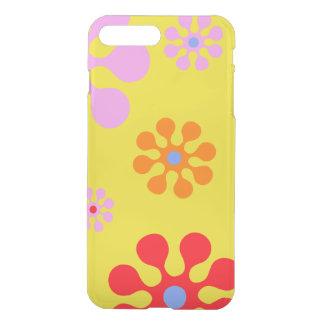 Coque iPhone 8 Plus/7 Plus Rétro cas génial de téléphone de jaune de fleurs