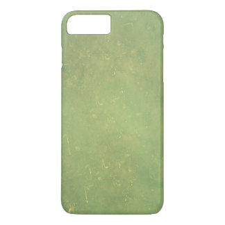 Coque iPhone 8 Plus/7 Plus Rétro motif vert élégant vintage de couleur solide