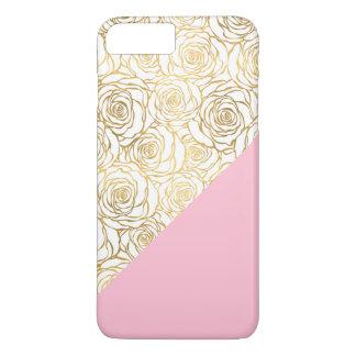 Coque iPhone 8 Plus/7 Plus Roses d'or avec le rose