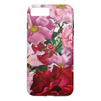 Coque iPhone 8 Plus/7 Plus Roses rouges et roses 2008