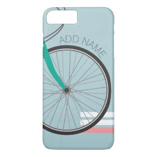 Coque iPhone 8 Plus/7 Plus Roue de bicyclette de hippie avec le nom fait sur
