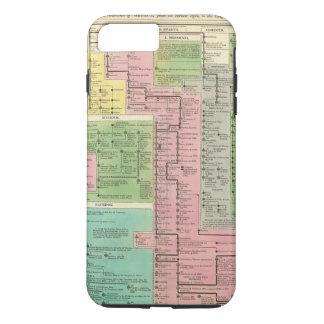 Coque iPhone 8 Plus/7 Plus Royaumes de chronologie de la Grèce
