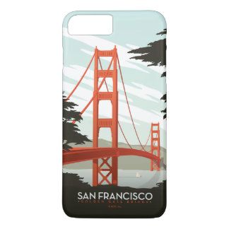 Coque iPhone 8 Plus/7 Plus San Francisco, CA - golden gate bridge