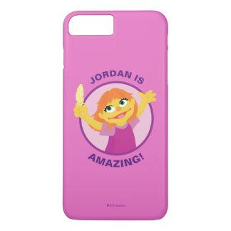 Coque iPhone 8 Plus/7 Plus Sesame Street | Julia tenant la plume