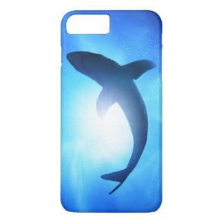 Coque iPhone 8 Plus/7 Plus Silhouette de requin d'océan profond