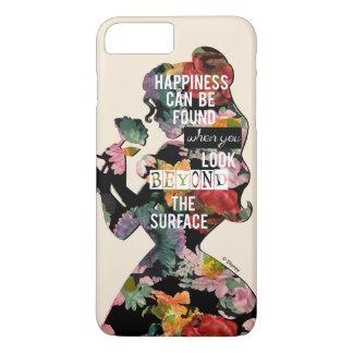 Coque iPhone 8 Plus/7 Plus Silhouette florale de belle de la princesse  
