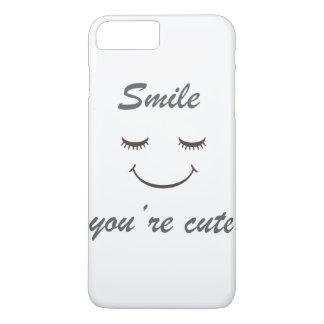 Coque iPhone 8 Plus/7 Plus sourire vous êtes cas mignon