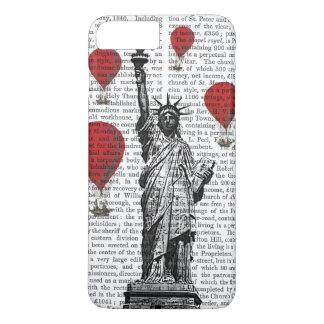Coque iPhone 8 Plus/7 Plus Statue de la liberté et des ballons à air d'un