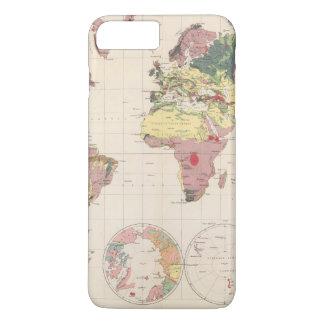 Coque iPhone 8 Plus/7 Plus Structure géologique de globe