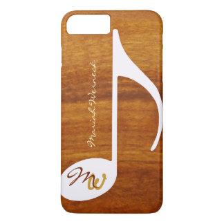Coque iPhone 8 Plus/7 Plus style graphique en bois de musique
