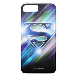 Coque iPhone 8 Plus/7 Plus Superman a stylisé le logo brillant d'éclat de