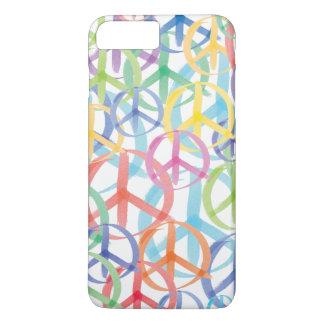 Coque iPhone 8 Plus/7 Plus Symboles de paix colorés