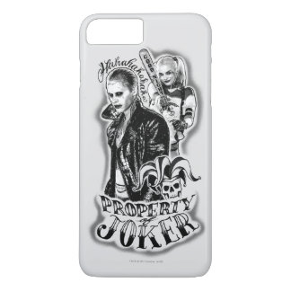 Coque iPhone 8 Plus/7 Plus Tatouage d'aerographe de joker et de Harley du
