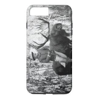 Coque iPhone 8 Plus/7 Plus Teddy Roosevelt montant une caisse d'orignaux de