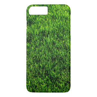 Coque iPhone 8 Plus/7 Plus Texture d'herbe verte d'un terrain de football